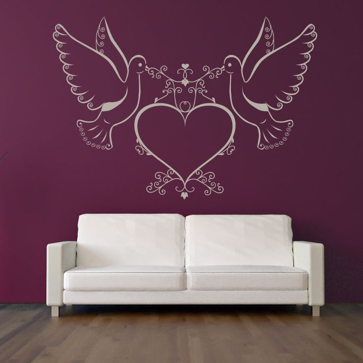 purple and white doves