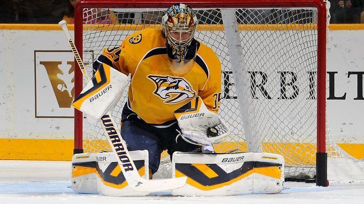 Nashville Predators Pekka Rinne | Nashville Predatorsin maalivahti Pekka Rinne esitti yhden jääkiekon ...