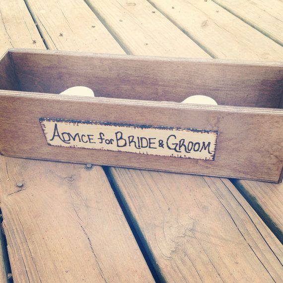 Rustic Wedding Advice Box for 50 Guests  Rustic by CountryBarnBabe, $50.00