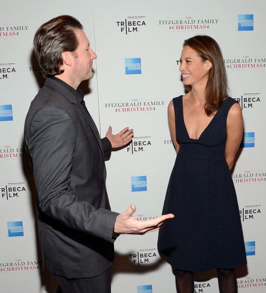 Actor/film producer Edward Burns and model Christy Turlington attends Tribeca Film's Special New York Screening Of 'The Fitzgerald Family Christmas'...