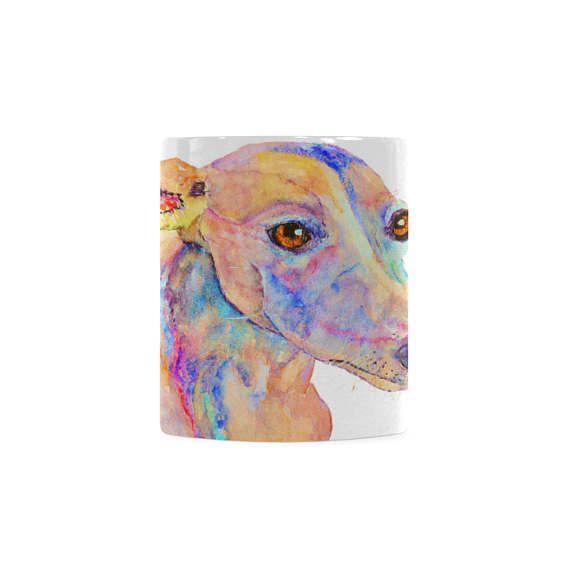 Housewarming gift for dog lovers. Whippet tea ceramic mug for