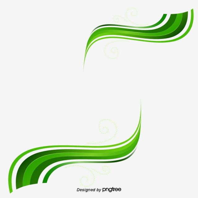 Creative Green Wave Ribbon Green Backgrounds Green Waves Vector