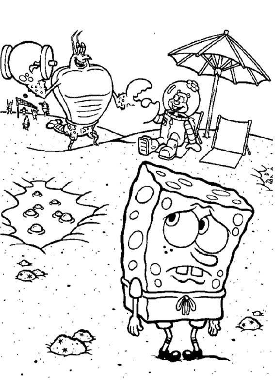 Spongebob Sad Coloring Page Spongebob Coloring Page