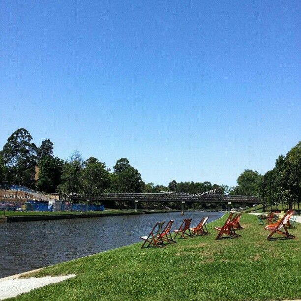 Parramatta River in Parramatta, Sydney, Australia.