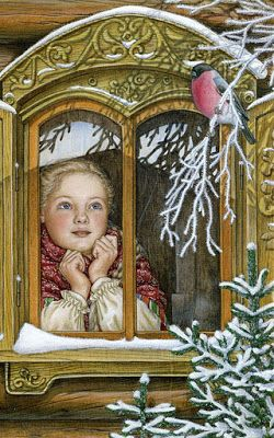 "Vintage Winter - Lyudmila Romanova   Also see N. Kelly's  ""Christmas Images"" board."