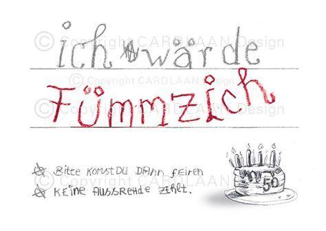 Lustige Einladungskarten Zum Fünfzigsten Geburtstag! Verschicke Kreative  Einladungen Zum Fünfzigsten: Angebot 1: