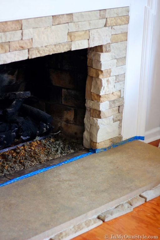 AirStone Fireplace Makeover on a DIY Budget - 25+ Best Ideas About Fireplace Refacing On Pinterest Brick