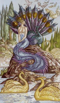 9 d'écus - Universal Fantasy Tarot par Paolo Martinello