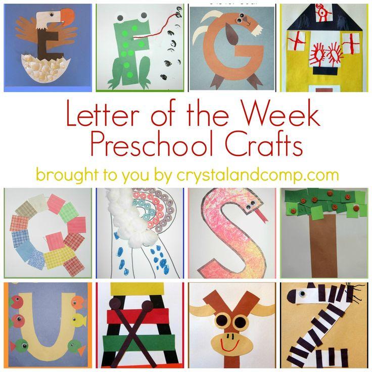 letter of the week preschool crafts luvabargain
