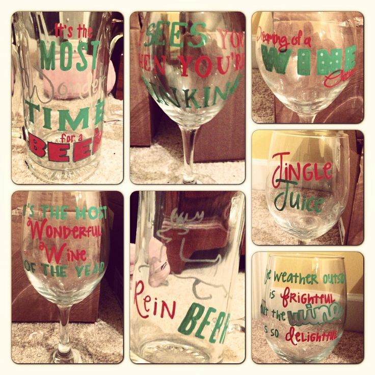Dollar tree wine glasses beer steins sharpie paint for How to decorate wine glasses with sharpies