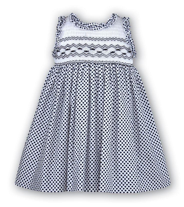 smocked | Full Smocked Dress - SARAH LOUISE 8419 - Little Cherubs Clothing
