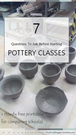 7 Essential Questions to ask a pottery school, plus handy sheet to compare schools!