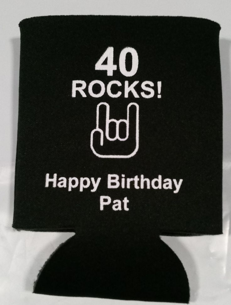 40 rocks birthday can coolers personalized