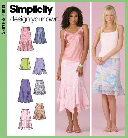 Simplicity 4138 Misses Skirts B and D