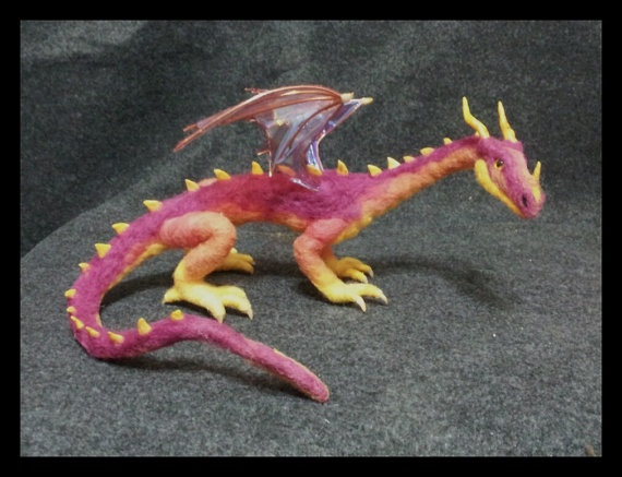 Felted Dragon...awesome in any color.