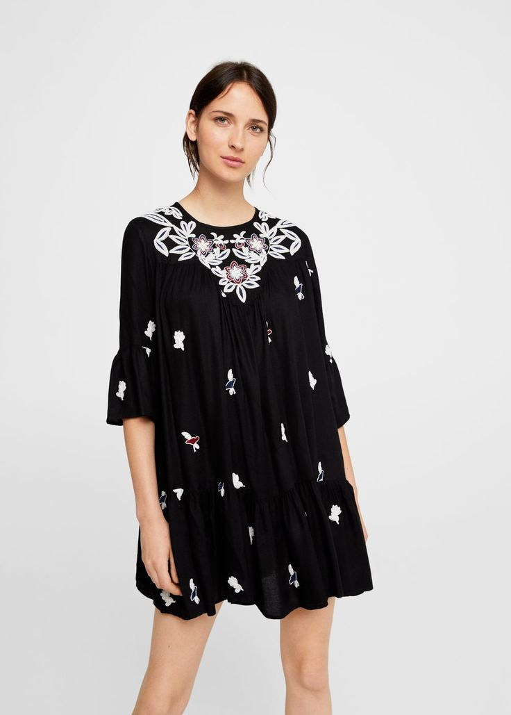 Floral embroidery dress - Woman | MANGO South Africa