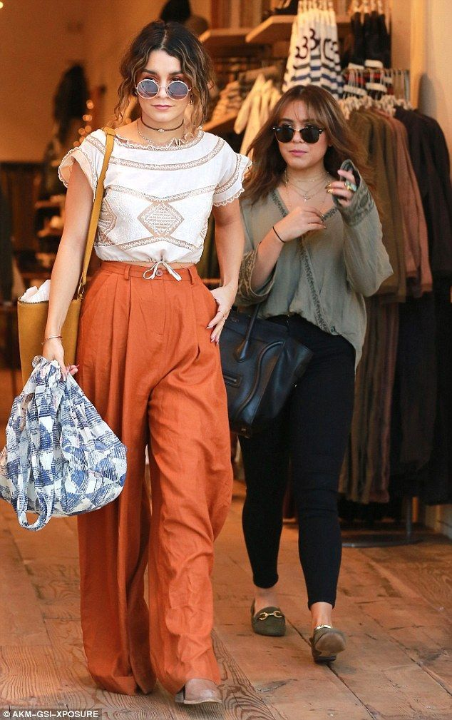 Vanessa Hudgens cuts a stylish figure for shopping with sister Stella