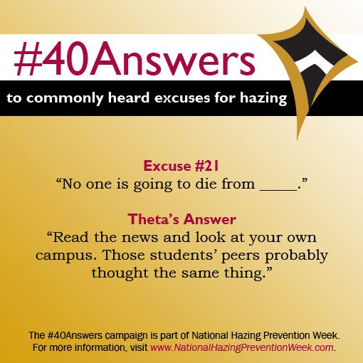 #40Answers Campaign, Day 21: Read the news and look at your own campus. Those students' peers probably thought the same thing. #NHPW
