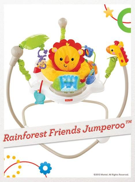 The Rainforest Friends Jumperoo keeps baby busy with music, lights and exciting sounds. For a chance to win, click here: http://fpfami.ly/014ez #BabyGear