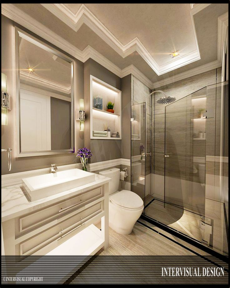 Desain kamar mandi minimalis mewah dan elegan   Portofolio By : Intervisual (Interior Designer di Sejasa.com)