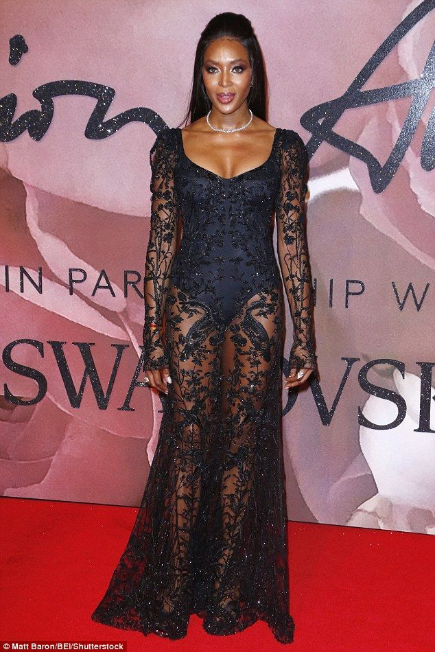 """Sizzle Like Naomi in a sheer Alexander McQueen dress  Click """"Visit"""" to buy #DailyMail"""