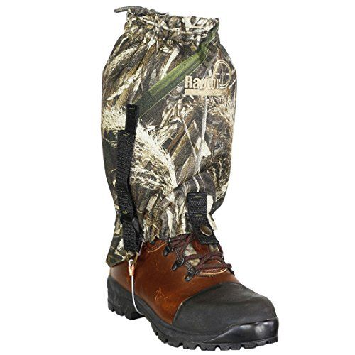 Raptor Hunting Solutions Realtree Camouflage Waterproof Breathable Windproof Snow Moisture Protection Mountain Hiking Gaiter for Men and Women realtree Max5 (one size)