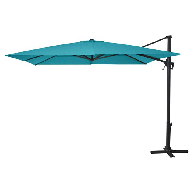 Cantilever Patio Umbrella   10u0027   Aqua | RONA
