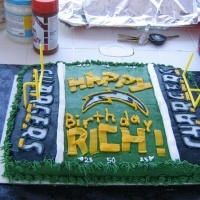 San Diego Chargers Cake #Chargers #Football