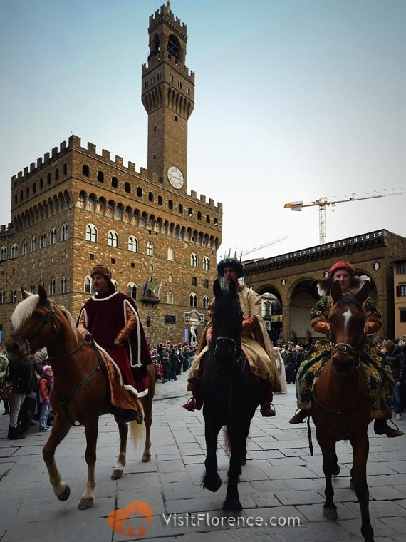 The Three Kings in Piazza della Signoria