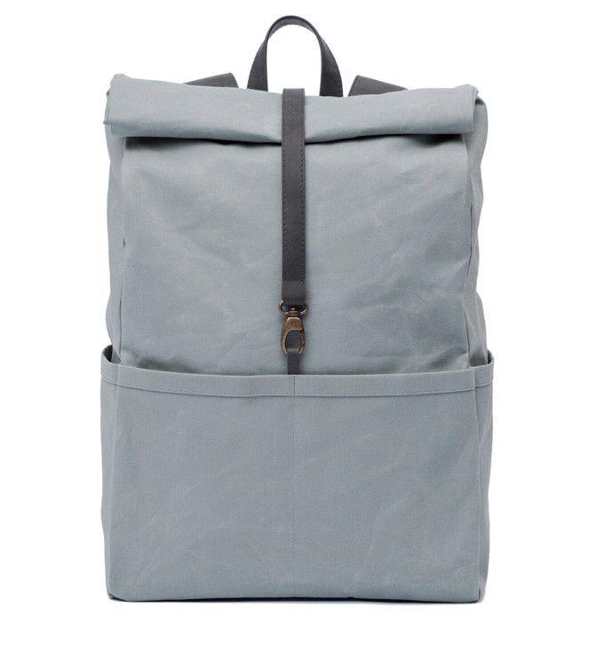 backpack oyster stone rucksack f r m nner und frauen aus beschichteter baumwolle und pflanzlich. Black Bedroom Furniture Sets. Home Design Ideas