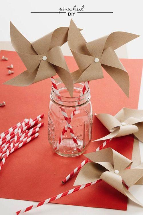 Kraft pinwheels  Image Source: Style Me Pretty