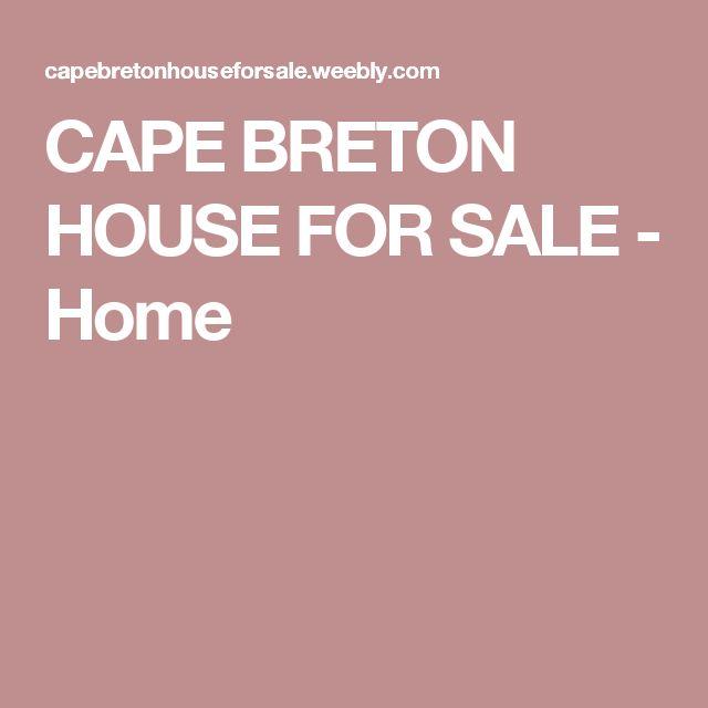 CAPE BRETON HOUSE FOR SALE - Home
