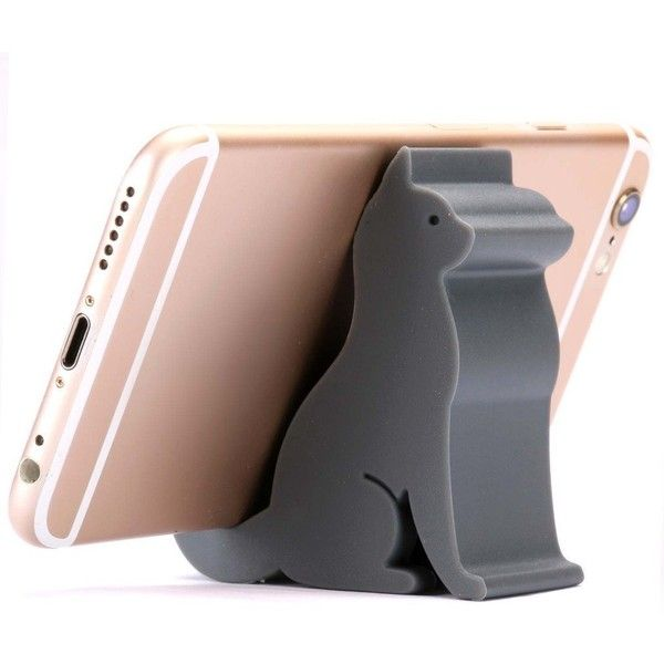 Plinrise Mini Cat Shape Cute Cell Phone Mounts Candy Color Creative... ($8.99) ❤ liked on Polyvore featuring accessories, tech accessories and samsung