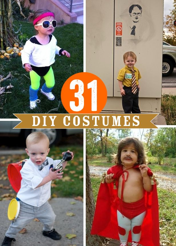Best 25 diy kids costumes ideas on pinterest halloween costumes 31 diy halloween costumes solutioingenieria Image collections