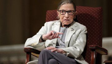 Supreme Court Justice Ruth Bader Ginsburg says she wants to change the Electoral College. (AP Photo/Marcio Jose Sanchez)