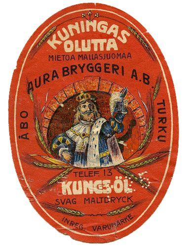 Kuningas Olut, Aura Bryggeri AB #olut #etiketit #beer #labels