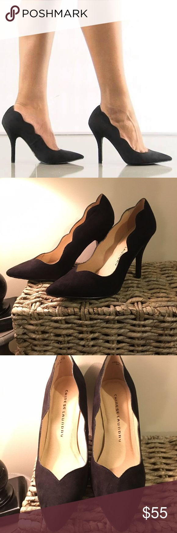 Chinese Laundry heels Brand new Chinese Laundry black scallop pump, size 8 1/2M!        Offers are more than welcome :) Chinese Laundry Shoes Heels