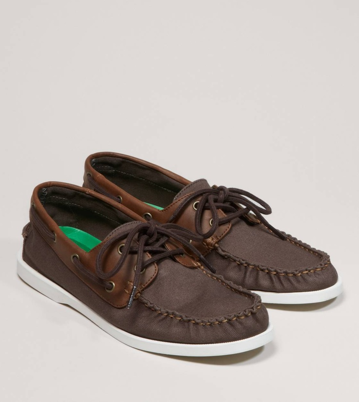 american eagle canvas boat shoe brown