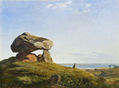 Dolmen at Raklev, Røsnæs | Johan Thomas Lundbye