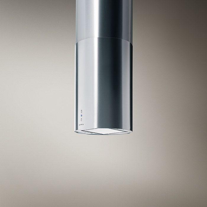 TUBE para isla, la campana cuya simplicidad en la forma y su diámetro de 43 cm contrasta con la alta eficiencia de su motor de 490 CFM, sus podersosos filtros de larga duración y su iluminación de dos lámparas de halógeno.