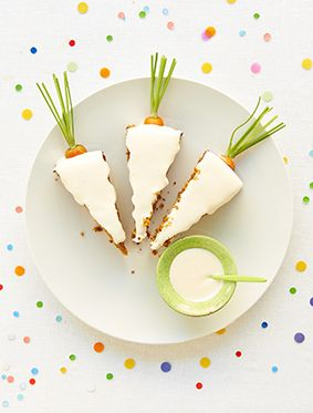 Carrot-shaped carrot cake