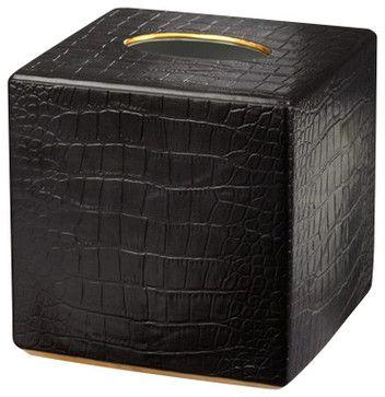 L'Objet Crocodile Tissue Box Cover contemporary-tissue-box-holders