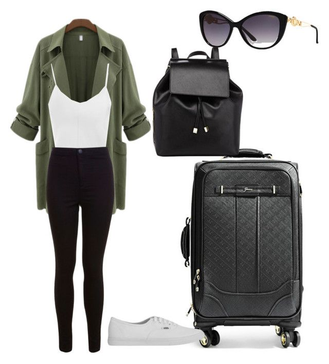 """Airport attire"" by rosethalwadjian on Polyvore"