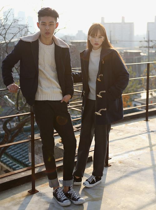 #korean #couple   – matching-couple-outfit-photoshoot – #Couple #Korean #matchingcoupleoutfitphotoshoot