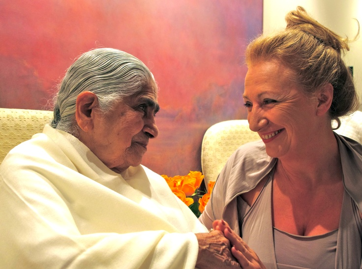 I'd like to introduce you to my spiritual grandmother if you have not met her before: Dadi Janki. She is 96 and from being Joint-Head, at the age of 92 she took on a new job, that of leader of the world's only spiritual organisation led by women. The Brahma Kumaris World Spiritual University was formed in 1936 and Dadi joined a year later in 1937. I love a story she shared from her youth about travelling throughout the night on a train in India to sit at the feet of Ghandi and hear him talk.