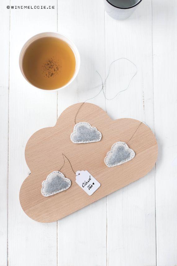 DIY: Wolkenteebeutel nähen und Freebie Oster-Grußkarten! Download und Gewinnspiel ❤ Cloud Teabag DIY Sewing with Easter Card Free Download!