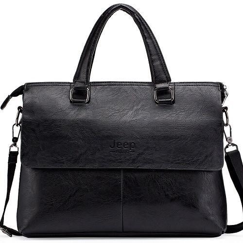 Briefcace Crossbody Leather Bag | Furrple