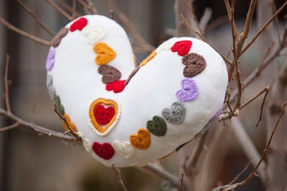 Decor Large Heart Pillow. #Monpasier #Gift_Heart #Heart_Decor #Large_Heart #Colorful_Heart #Heart_Pillow #Pillow_Love #Heart_Ornament #Crochet_Heart #Love_Heart #Christmas_Gift #pillow_cushion #pillow_gift #home_decor