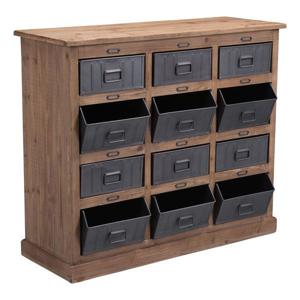 Zuo Modern Haricot Cabinet - Natural Pine