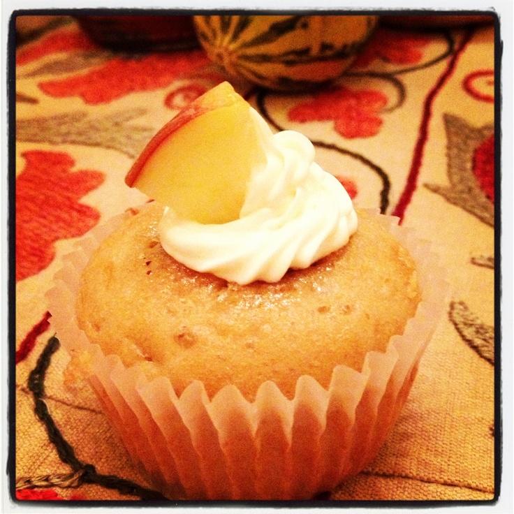 My original Drunken Caramel Apple Cupcake recipe! - Hillary